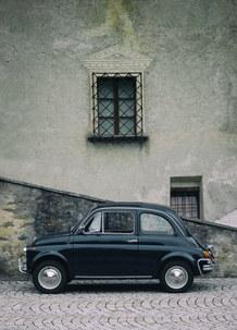 Vintage Black Fiat Cinquecento