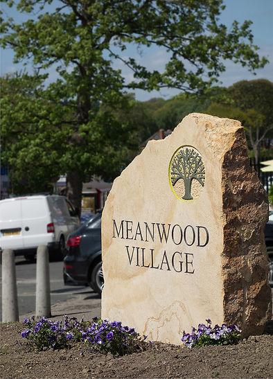 logo design on village sign