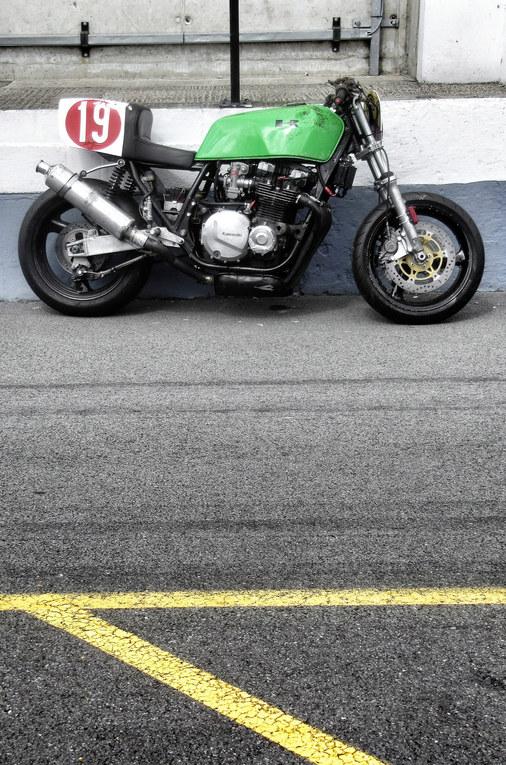 Vintage green Kawasaki