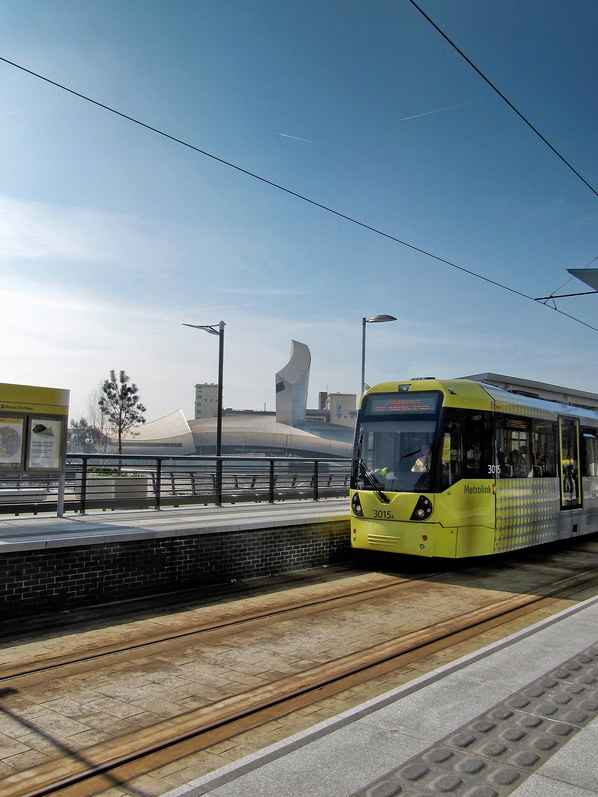 Tram at MediaCityUK Salford
