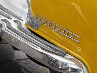 Vintage yellow Lambretta