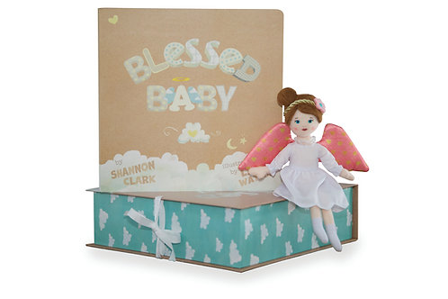 Baby Gift Set - Guardian Angel and Board Book