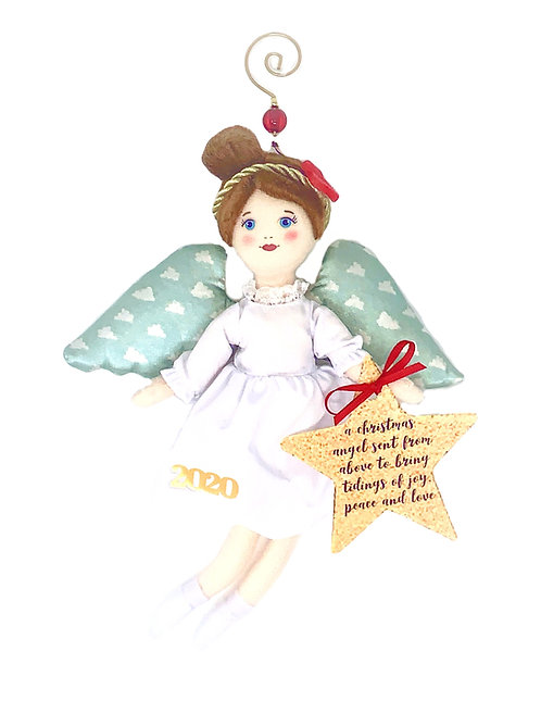 2020 Christmas Angel Ornament - Red Ribbon