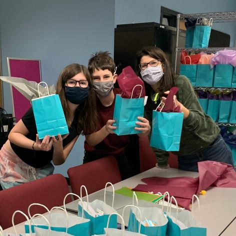 Packing Hanukkah Gift Bags