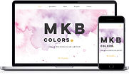 Website work portfolio sample MKB Colors