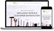Website work portfolio sample Nicollet Appliance Repair