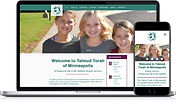Website work portfolio sample Talmud Torah of Minneapolis
