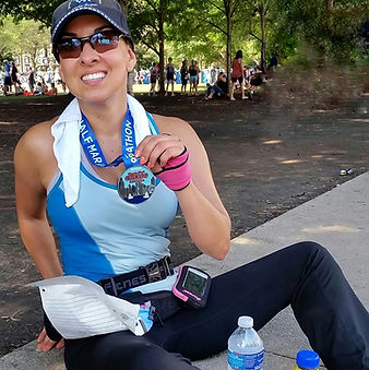 Dr. Michele Kerulis half marathon-.jpg