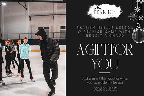 Skating Skills with Benoit Richaud @ PeakIce Gift Certificate