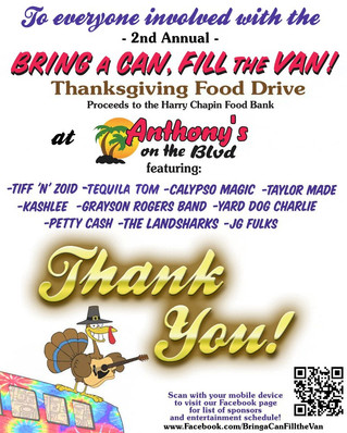 Thank you '2nd Annual Bring a Can, Fill the Van' participants!