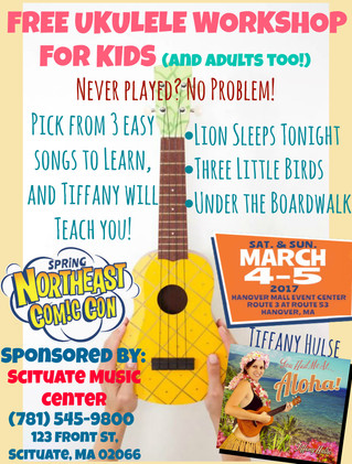 Free Ukulele Workshop at NECC This Weekend!