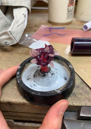 What Lies Beneath: sprued wax