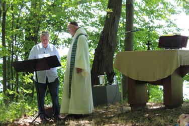 An amazing team, Fr. Richard and Steve.