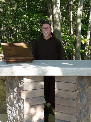 Our new altar brings a smile to Fr. Richard!