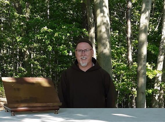 Our new altar brings a big smile to Fr. Richard.