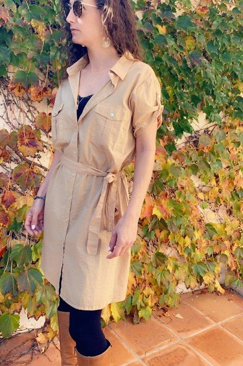 Robe saharienne beige