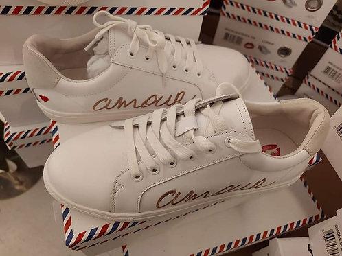Sneakers Simone Amour Blanche Rose Gold Bon baisers de paname 💋