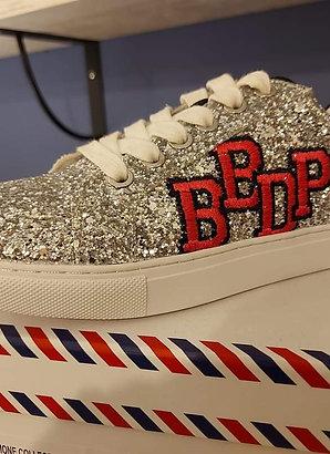 Sneakers Simone College Glitter Silver Bon baisers de paname 💋