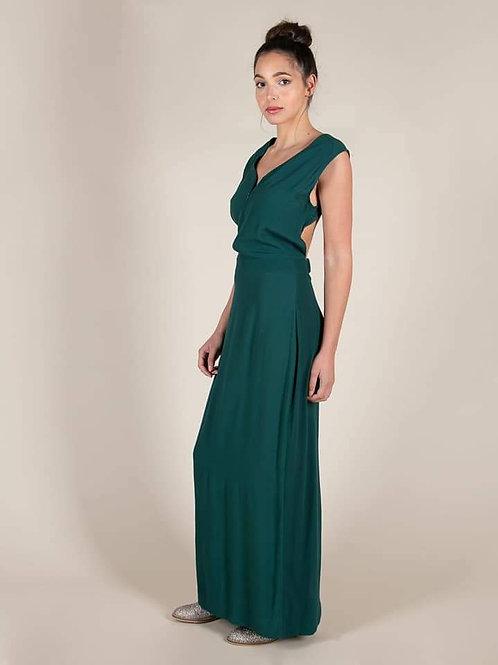 Robe longue Karma Koma 100% Rayonne Soho green