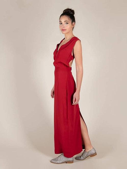 Robe longue Karma Koma 100% Rayonne Velvet red