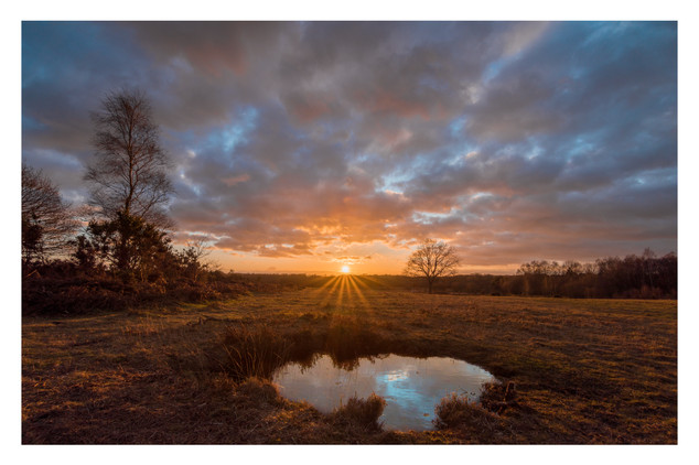 Sunset On The Common | Chailey