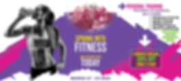 Spring into Fitness - Website and Email.