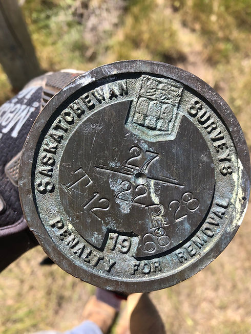 Saskatchewan Land Surveys Monument: Post with Brass Cap