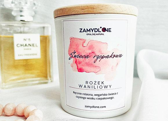 Świeca z wosku rzepakowego - rożek waniliowy