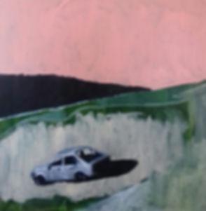 Lee_Shott,_Abandoned_car,_Oil_on_canvas,