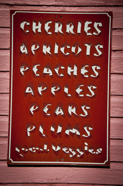 fruit stand sign