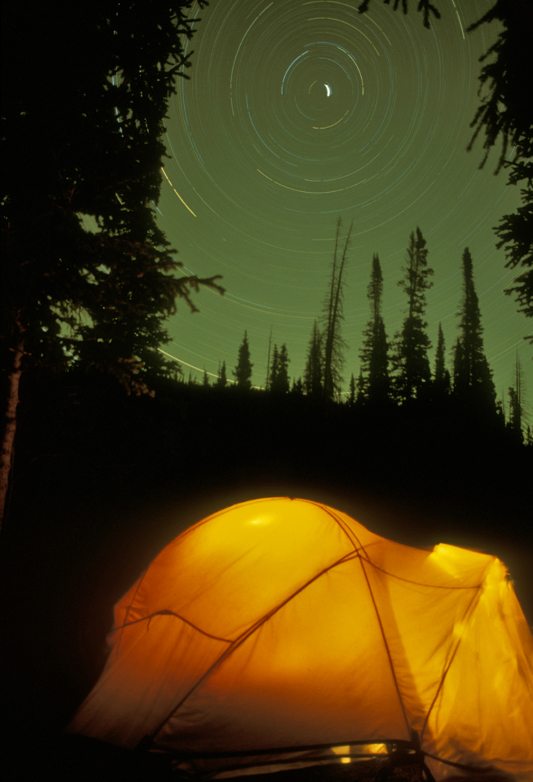 Camping startrail