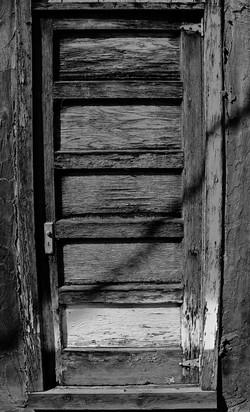 weatherd old door