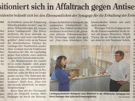 27.7.2020: Besuch der Landtagspräsidentin Muhterem Aras