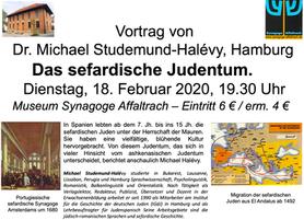 """Vortrag """"Das sefardische Judentum"""" von Dr. Michael Studemund-Halévy am 18.2.2020, 19.30 Uh"""