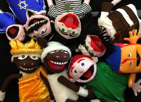 """Puppentheater """"Shlomos Chanukka-Wunderlampe – Eine Puppen-Komödie zum jüdischen Lichterfest für"""