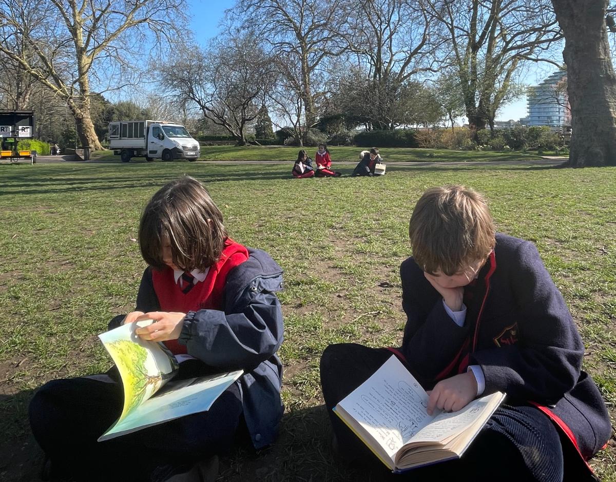 Learning Outside at Bishop's Park