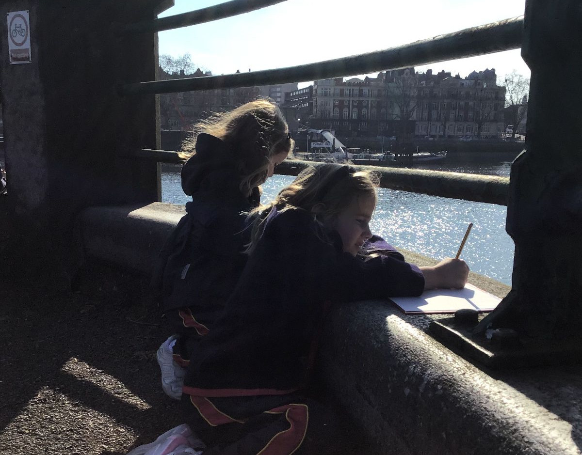 Sketching by the river Yr 1 World Water