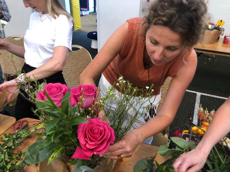 Ms Francesca flower arranging!