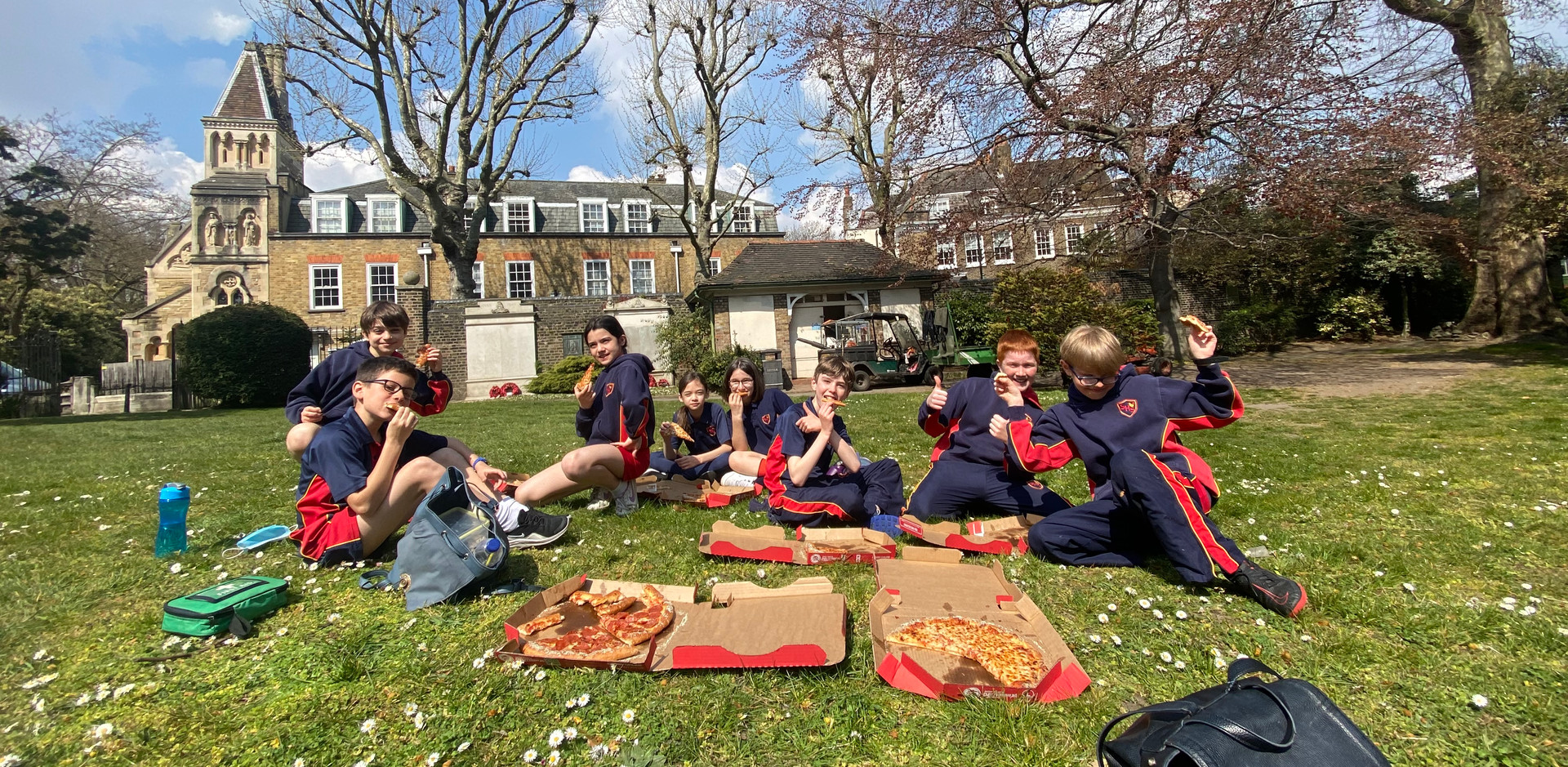 Year 6 Park Pizza Party to celebrate their 11+ exam success