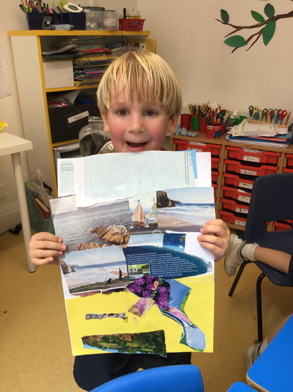 Reception Seaside Collages