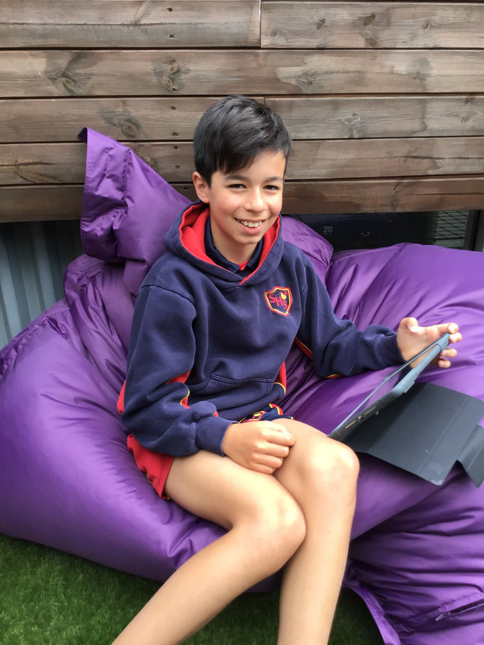 Year 6 in their new Chill Out Zone