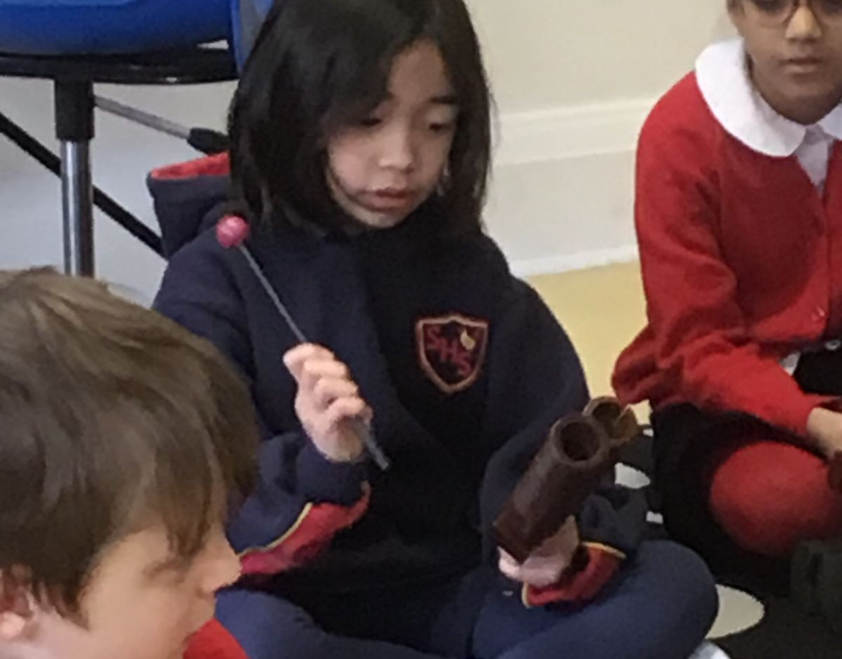 Year 3 learning about Rhythm