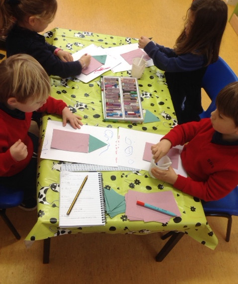 Upper Nursery making Christmas Cards!