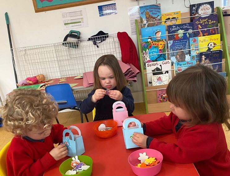 Pre-Reception Easter Bunnies...