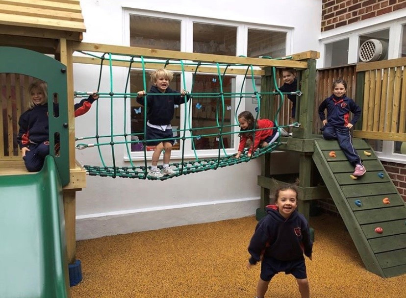 Reception in the new Play Area!