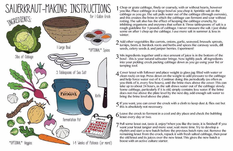 instructions on how to use handmade fermentation crocks