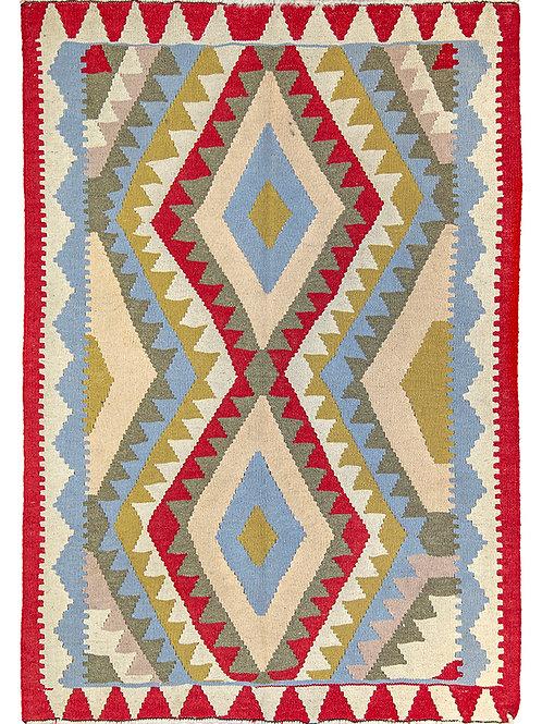 Colourful Persian Kilim Rug - 147 x 105cm