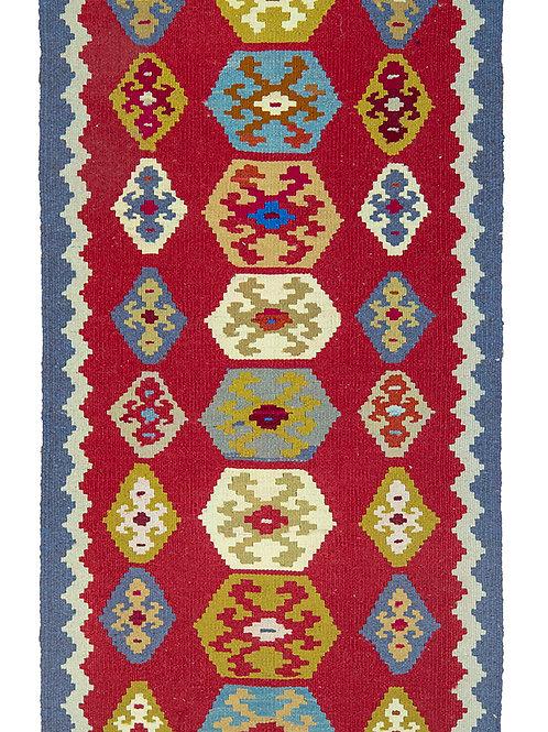Red Persian Kilim Rug - 147 x 73cm