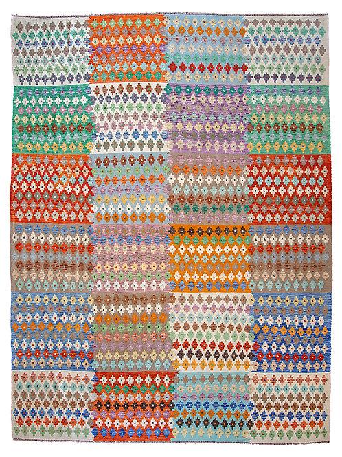 Multi-Colour Kilim Rug - 346 x 251cm