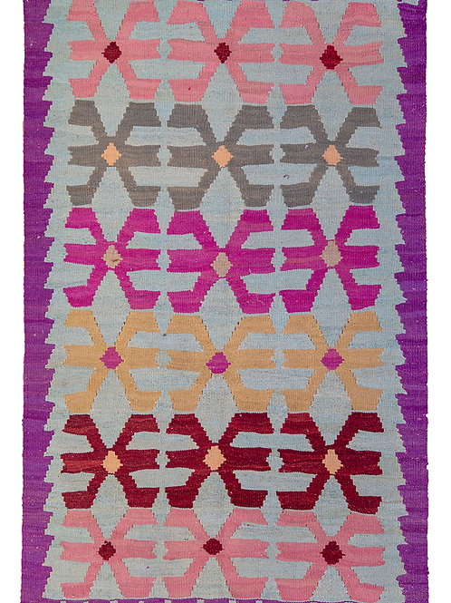 Purple Persian Kilim Rug - 155 x 100cm